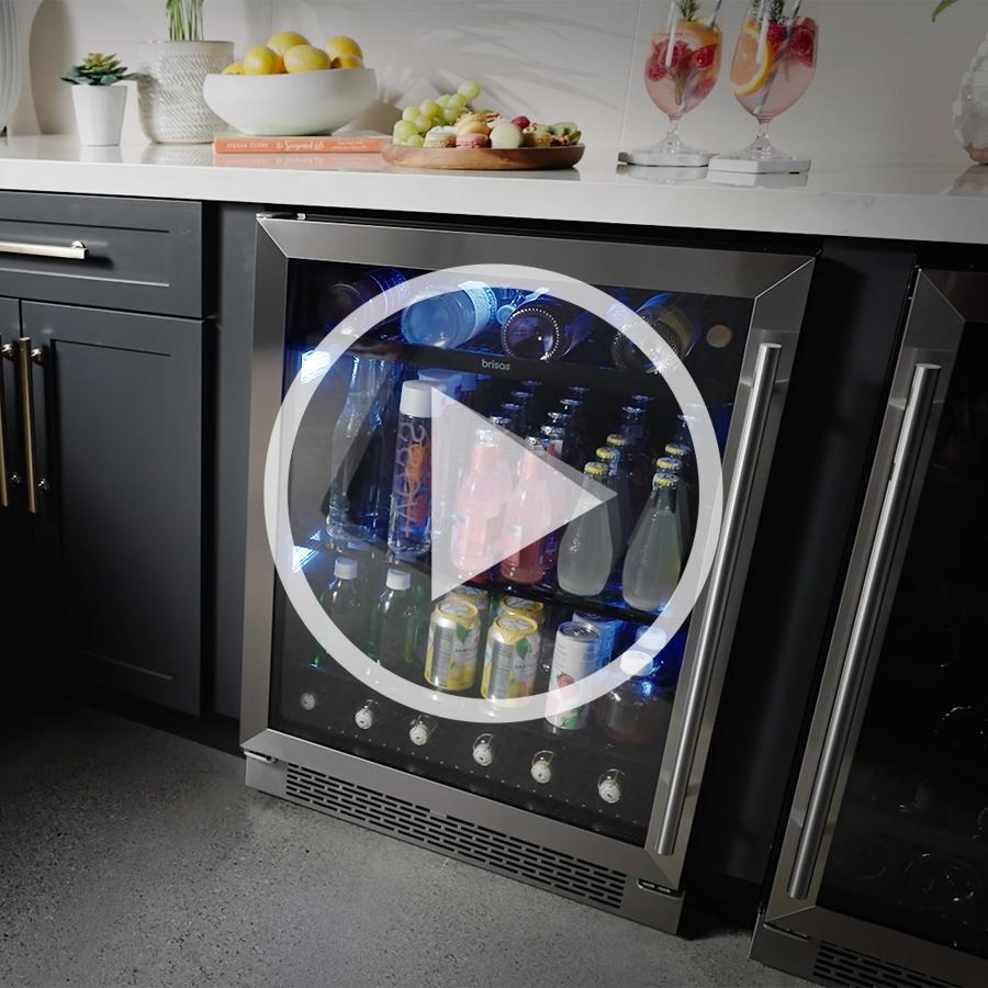 Brisas By Zephyr | Brisas Single Zone Beverage Cooler